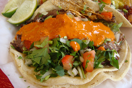 Tender and spicy tacos at El Aguila, East Harlem