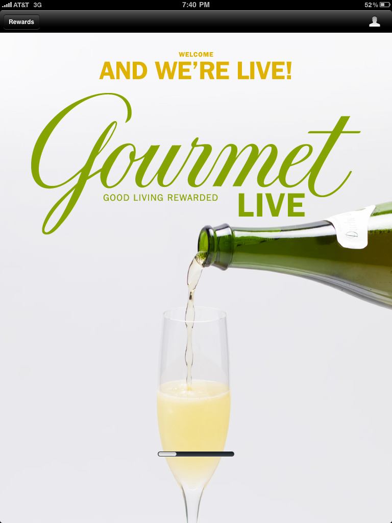 Gourmet, alive on my iPad
